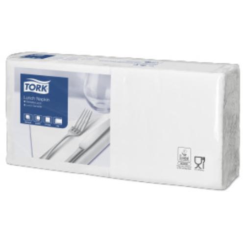 TORK 477149 Lunch Advanced szalvéta, 2 rétegű, 33x33 cm (1/4-es hajtogatással: 16x16 cm), fehér (200 lap/csomag, 10 csomag/karton)