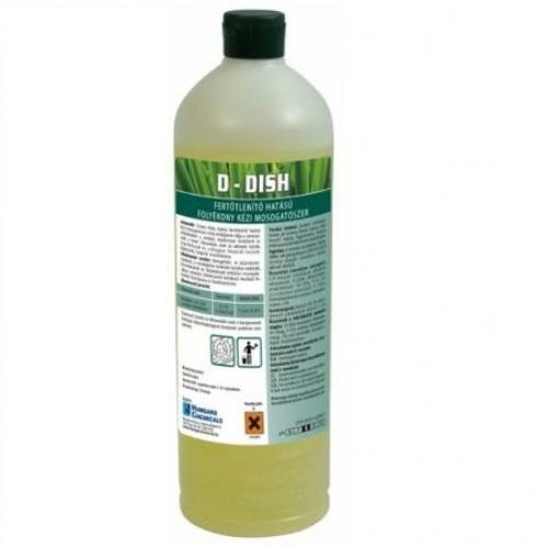 HC D-Dish fertőtlenítő hatású folyékony kézi mosogatószer koncentrátum, 1 kg