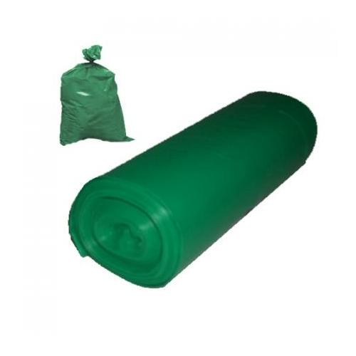Kukazsák, 135 L, 70x110 cm, zöld (20 db/tekercs)