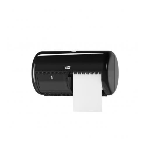 TORK 557008 Elevation duplatekercses kisgurigás toalettpapír-adagoló, műanyag, fekete
