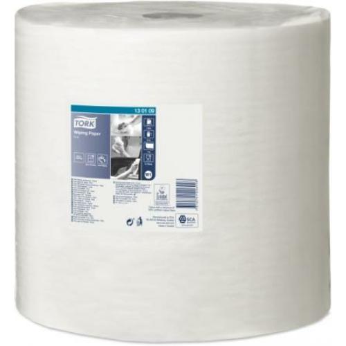 TORK 130109 ipari törlőpapír, 1 rétegű, 38-as, fehér (1180 méter/tekercs)