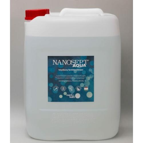 Nanosept Aqua folyékony felületfertőtlenítő szer, 5 kg (hígítás 10%-ban)