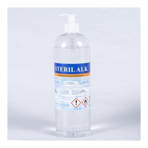 HC Steril Alk alkoholos kézfertőtlenítő szer, folyékony, pumpás, 850 ml
