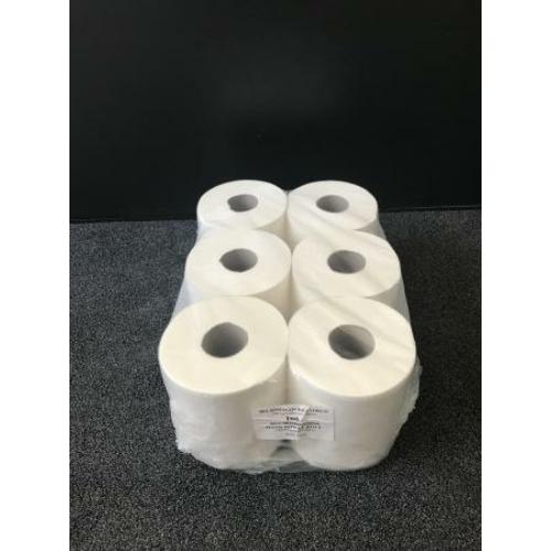 RLP közületi belsőmagos kéztörlő papír, 2 rétegű, 19-es, 100% cellulóz, hófehér (100 méter/guriga, 6 guriga/zsugor)
