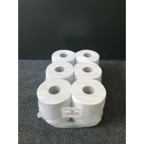 RLP közületi belsőmagos kéztörlő papír, 2 rétegű, 19-es, fehér (100 méter/guriga, 6 guriga/zsugor)
