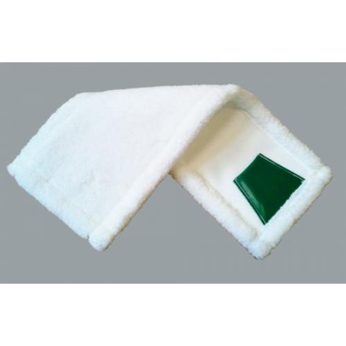 Füles mikromop, 40 cm, fehér
