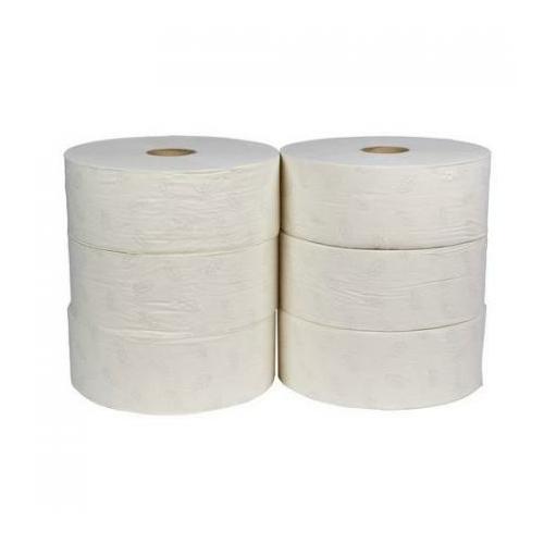 Toalettpapír, 2 rétegű, 26-os, 80% cellulóz, natúr (6 guriga/zsugor)