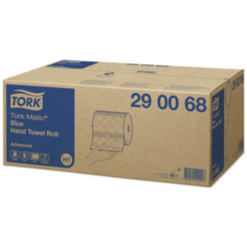 TORK 290068 Matic Soft Advanced tekercses kéztörlő papír, 2 rétegű, 19-es, kék (150 méter/tekercs, 6 tekercs/karton)