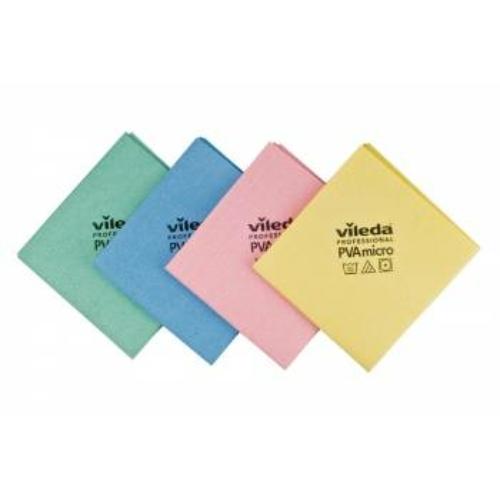 VILEDA PVA micro törlőkendő, 35x38 cm, zöld (5 darab/csomag)