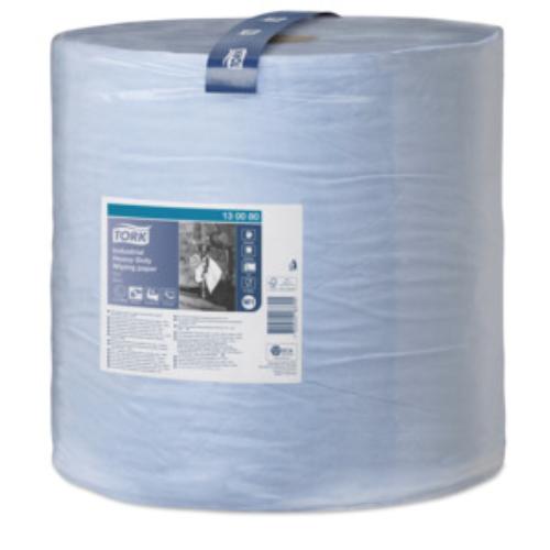 TORK 130051 ipari törlőpapír plusz, 2 rétegű, 39-es, kék (1500 lap/tekercs, 510 méter/tekercs)
