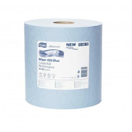 TORK 130072 nagy teljesítményű törlőpapír, 2 rétegű, 26-os, kék (500 lap/tekercs, 170 méter/tekercs, 2 tekercs/zsugor)