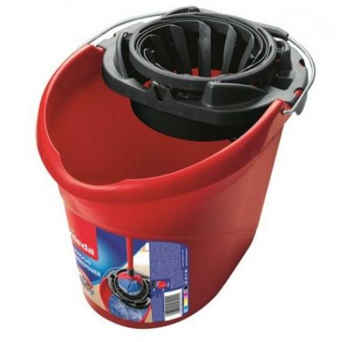 VILEDA Supermop vödör préssel, piros, 10 L