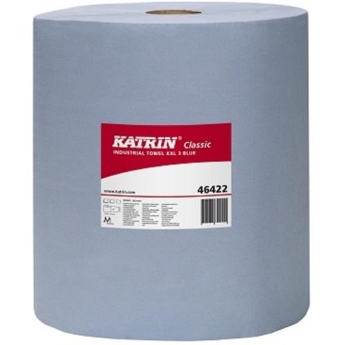 KATRIN 46422 Classic XXL3 ipari kéztörlő papír, 3 rétegű, 29-es, kék (500 lap/guriga, 190 méter/guriga, 2 guriga/zsugor) - ÖKO