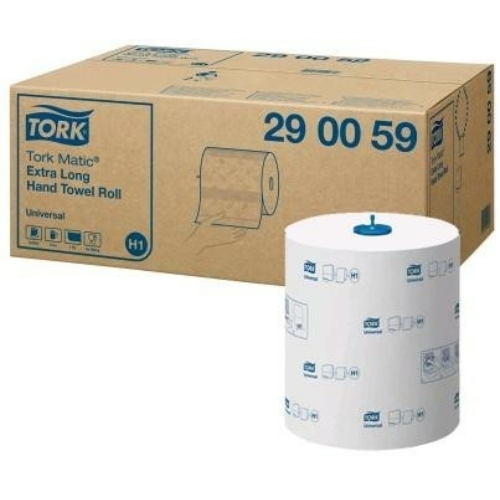 TORK 120059 Matic Universal extra hosszú tekercses kéztörlő papír, 1 rétegű, 19-es, fehér (280 méter/tekercs, 6 tekercs/karton)
