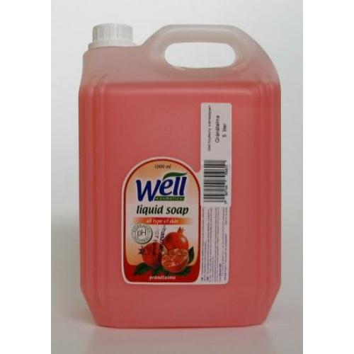 Well Cosmetics folyékony szappan, gránátalma, 5 L
