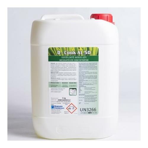 HC D-Cook AL 50 fertőtlenítő hatású gépi mosogatószer koncentrátum, 25 kg