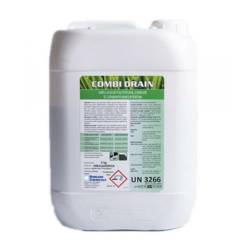 HC Combi Drain erős lefolyótisztító szer, zsíroldó és zsírbontó koncentrátum, 5 kg