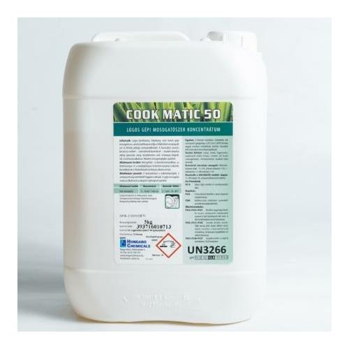 HC Cook Matic 50 lúgos gépi mosogatószer koncentrátum, 5 kg