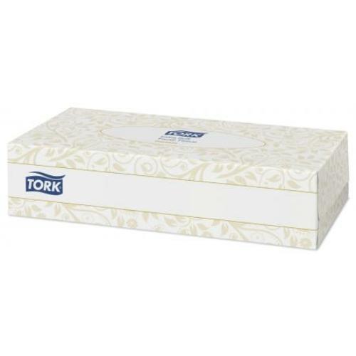 TORK 140280 Extra Soft kozmetikai kendő, 2 rétegű, 20x10 cm/lap, fehér (100 darab/doboz, 30 doboz/karton)