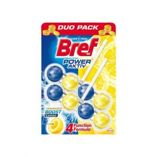 Bref Power Aktiv toalettfrissítő, Lemon (citrom), Duo Pack 2x50 g