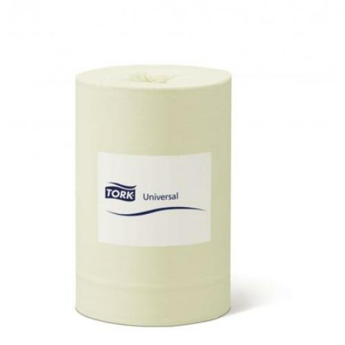 TORK 120144 Universal tekercses kéztörlő papír, 1 rétegű, 14-es, sárga (115 méter/tekercs, 11 tekercs/zsugor)