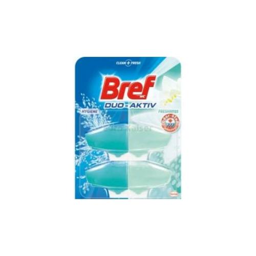 Bref Duo-Aktiv toalettfrissítő utántöltő, Clear Fresh, 2x60 ml