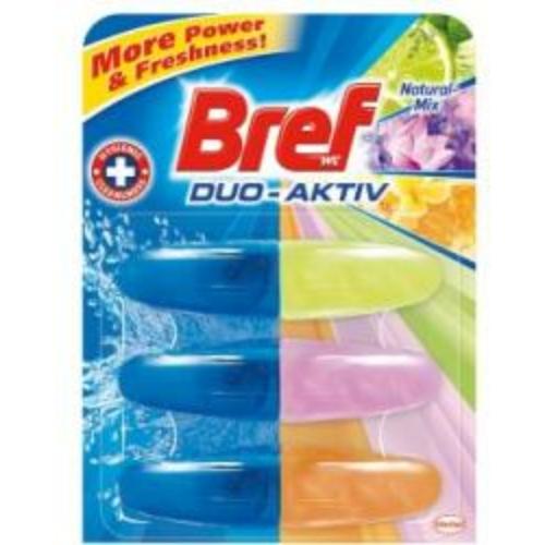 Bref Duo-Aktiv toalettfrissítő utántöltő, Natural Mix, 3x60 ml