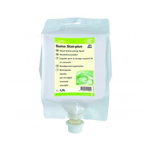 Diversey Suma Stat-Plus D1 Bac fertőtlenítő hatású kézi mosogatószer koncentrátum, 1,5 L