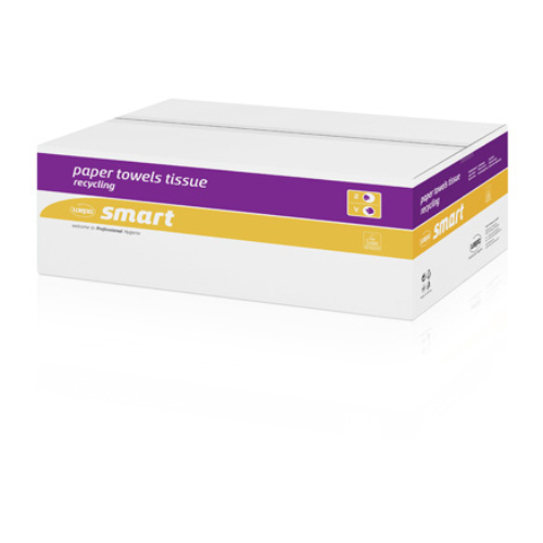 Wepa 276200 hajtogatott kéztörlő papír, 2 rétegű, 11x23,5 cm/lap, fehér (160 lap/csomag, 20 csomag/karton)