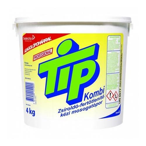 Tip Kombi Professional zsíroldó-fertőtlenítő kézi mosogatópor, 4 kg
