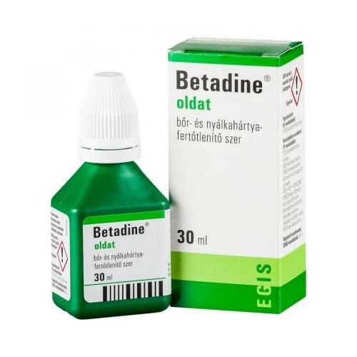 Betadine bőr- és nyálkahártya-fertőtlenítő oldat, 30 ml